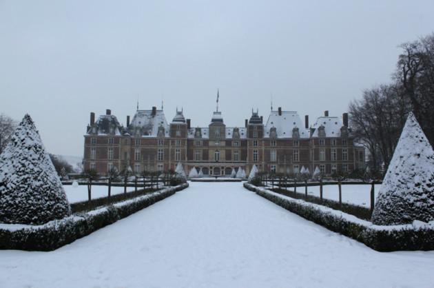 château d'Eu sous la neige