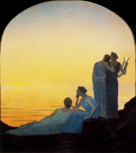 soir antique, alphonse osbert, jean-christophe, Romain Rolland, Italie