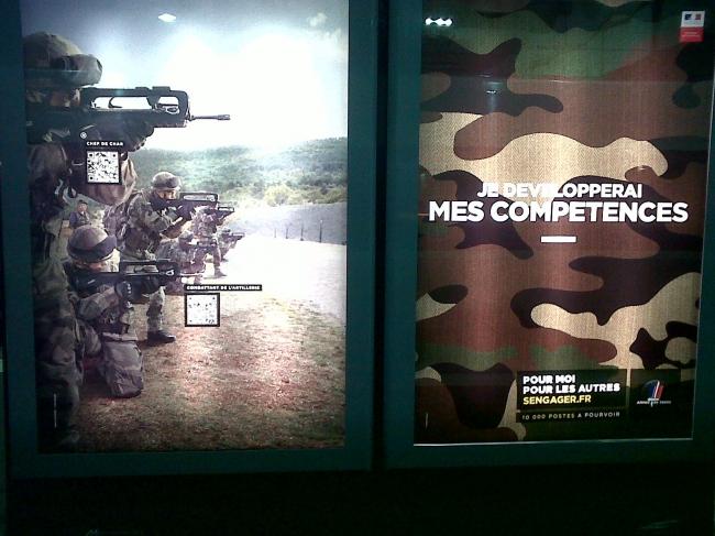 développement de compétences, armée de terre, publicité, gare