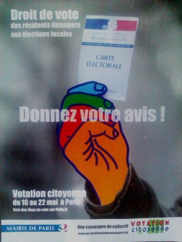 votation citoyenne, droit de vote des étrangers
