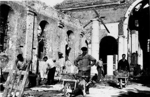 Portel, ruines, bombardement, Nord